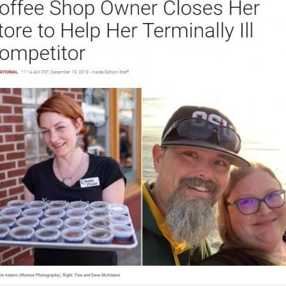 【海外発!Breaking News】末期がんのコーヒー店主のため、自分の店を閉めて無償で働いた女性(米)