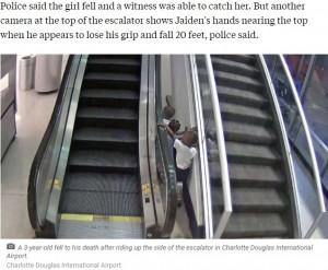 【海外発!Breaking News】エスカレーターで3歳児が転落死  子供だけで1時間も遊んでいたことが明らかに(米)<動画あり>
