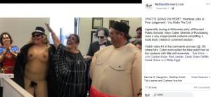 裸の衣装でハロウィンパーティに参加したメアリーさん(画像は『MyBlackBroward.com 2019年11月1日付Facebook「WHAT IS GOING ON HERE?」』のスクリーンショット)