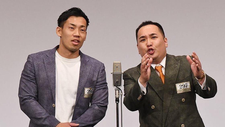 ミルクボーイの駒場孝と内海崇(画像は『ミルクボーイ 駒場 2019年12月21日付Instagram「プロテインラジオ、ありがとうございました!」』のスクリーンショット)