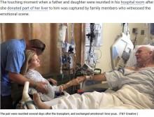 【海外発!Breaking News】娘から肝臓を移植された父 手術後に再会し互いに「愛している」(米)<動画あり>