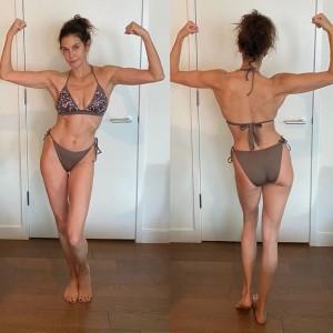 テリー・ハッチャーのビキニ姿に同年代女性からも称賛の声(画像は『Teri Hatcher 2019年12月10日付Instagram「Exercise has become a source of well being not a means to look good naked.」』のスクリーンショット)