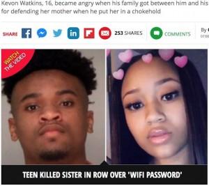 【海外発!Breaking News】ネット速度に苛立った少年 Wi-Fiをめぐる喧嘩で姉を殺害(米)