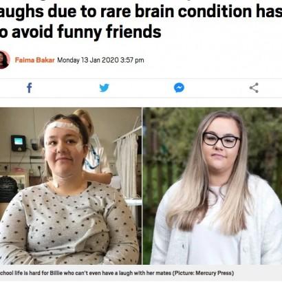 【海外発!Breaking News】笑うたびに突然倒れてしまう症状「カタプレキシー」に悩む17歳少女(英)