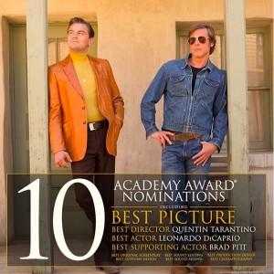 主演&助演そろってノミネートのレオナルド・ディカプリオとブラッド・ピット(画像は『Once Upon a Time in Hollywood 2020年1月13日付Instagram「Congratulations to #OnceUponATimeInHollywood for receiving 10 Academy Award nominations including Best Picture, Best Director, Best Actor, and Best Supporting Actor!」』のスクリーンショット)