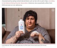 """【海外発!Breaking News】一日1本のベビーパウダーを食べてしまう""""異食症""""の女性(英)<動画あり>"""