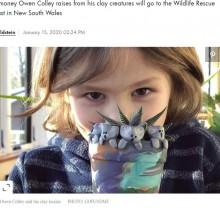 【海外発!Breaking News】豪森林火災に心を痛めた6歳児、粘土のコアラで1900万円超の寄付を集める(米)<動画あり>