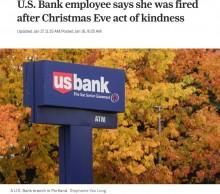 【海外発!Breaking News】お金に困っていた顧客を見捨てられず 自費で2千円渡した銀行員が解雇される(米)