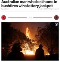 【海外発!Breaking News】オーストラリア森林火災で家を失った男性、宝クジで7500万円超に当選!