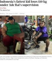 【海外発!Breaking News】元「世界一の肥満児」110キロの減量に成功(インドネシア)<動画あり>