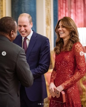 【イタすぎるセレブ達】Megxitショックを吹き飛ばす! ウィリアム王子とキャサリン妃がレセプションで初ホストを堂々と務める
