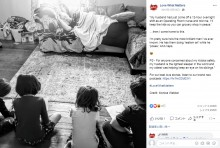 【海外発!Breaking News】昼寝をしながら4人の子供の遊び相手をするパパのアイデアに称賛の声(米)