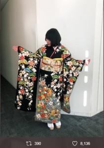 2020年に新成人を迎えた富田望生(画像は『富田望生 2020年1月13日付Twitter「#ヒルナンデス」』のスクリーンショット)