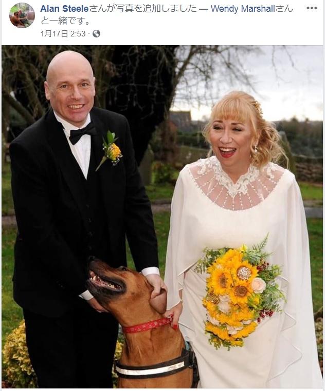 ダイアモンド・プリンセス号で新婚旅行中だったイギリス人夫妻(画像は『Wendy Marshall 2020年1月16日付Facebook』のスクリーンショット)