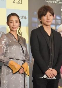 映画『スキャンダル』公開記念イベントに登場した宇垣美里アナと古市憲寿氏
