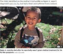 【海外発!Breaking News】「抗インフルエンザ薬は必要ない」母親の判断で4歳男児が死亡(米)