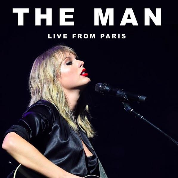 テイラー自らがメガホンを取った『The Man』MVが解禁に(画像は『Taylor Swift 2020年2月17日付Instagram「The Man - Live From Paris」』のスクリーンショット)