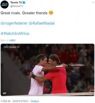【海外発!Breaking News】フェデラー vs ナダル、南アのチャリティマッチにテニス史上最多の観客動員数