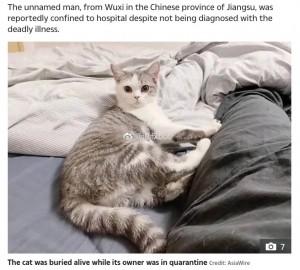 【海外発!Breaking News】ウイルス感染を懸念した住宅管理業者、飼い主不在中に猫を生き埋めに(中国)