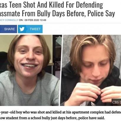 【海外発!Breaking News】いじめられている同級生を救った16歳少年、逆恨みされ銃で殺害される(米)