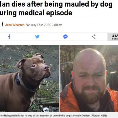 【海外発!Breaking News】発作で倒れた男性、飼い犬に噛み殺される(英)