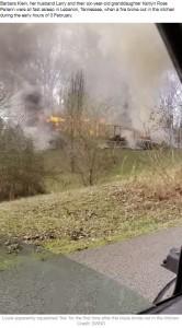 今月3日の火災で全焼した一軒家(画像は『LADbible 2020年2月24日付「Parrot Hailed Hero For Squawking 'Fire' And Alerting Family To Blaze」(Credit: SWNS)』のスクリーンショット)