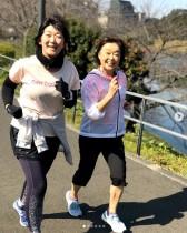 【エンタがビタミン♪】たんぽぽ川村、増田明美さんと笑顔の2ショット フルマラソン参加できずも「走り続けてみようかな」