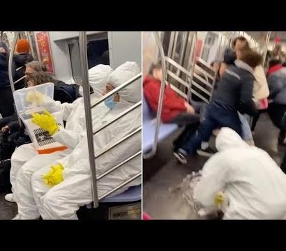 【海外発!Breaking News】防護服姿の2人組が悪ふざけ、ウイルスに見せかけた液体を地下鉄車内にこぼす(米)<動画あり>