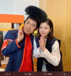 岡村隆史と吉高由里子(画像は『「知らなくていいコト」【公式】第8話は2月26日!! 2020年2月20日付Twitter「【番組出演情報】今夜7時!!『#ぐるナイ』に #吉高由里子 さん #柄本佑 さんが出演」』のスクリーンショット)
