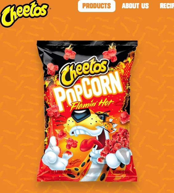 """激辛スナック""""チートス""""(画像は『Cheetos「CHEETOS(R) Crunchy FLAMIN' HOT(R) Cheese Flavored Snacks」』のスクリーンショット)"""