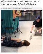 【海外発!Breaking News】「誰も助けない」マスクをした女性が床に倒れるも人々が傍観するだけの動画に物議(シンガポール)<動画あり>