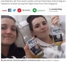 【海外発!Breaking News】二日酔いで飛行機に搭乗した女性、ウイルス感染者と勘違いされ機内がパニックに(英)