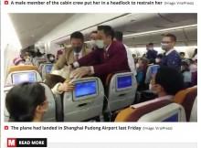 【海外発!Breaking News】新型肺炎による機内待機に苛立った中国人女性、CAめがけて咳をする<動画あり>