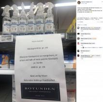 【海外発!Breaking News】パニック買い防止のため、デンマークのスーパーが考案「消毒剤を2本購入した場合は…」