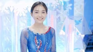 フィギュアスケーターの衣装を初めて着た川口春奈