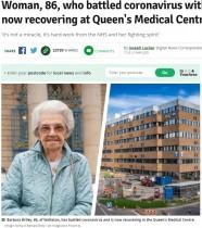 【海外発!Breaking News】86歳女性、新型コロナから回復「これは奇跡じゃない」過去には戦争や心臓手術を生き抜いたファイター(英)