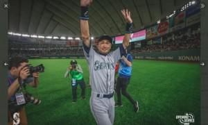 我が子にこのようになって欲しいと絶賛されたイチローさん(画像は『Seattle Mariners 2019年3月22日付Twitter「I-CHI-RO! I-CHI-RO! I-CHI-RO!」』のスクリーンショット)