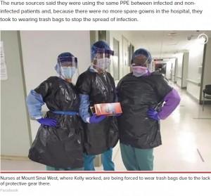 【海外発!Breaking News】「病院に防護服がない」ゴミ袋を纏うNY看護師、同僚が新型コロナ感染で死亡(米)