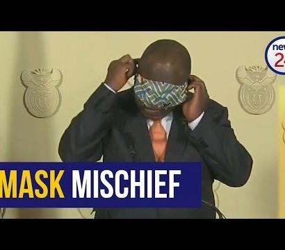 【海外発!Breaking News】マスク装着に手こずる南ア大統領 国民から「ロックダウンで一番笑った」の声