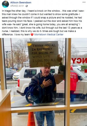 【海外発!Breaking News】「妻の命を助けてくれてありがとう」緊急救命室の外で号泣する男性に看護師「心が奮い立った!」(米)