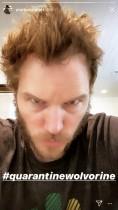 """【イタすぎるセレブ達】『ガーディアンズ・オブ・ギャラクシー』クリス・プラット、自己隔離中""""ウルヴァリン""""に変身!?"""