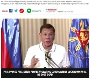 【海外発!Breaking News】マスク着用を拒んで暴れた男、警察官に射殺される(フィリピン)