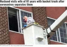 【海外発!Breaking News】88歳男性、高所作業車で介護施設3階にいる妻(85)に面会「61年間愛する気持ちは変わらない」(米)<動画あり>