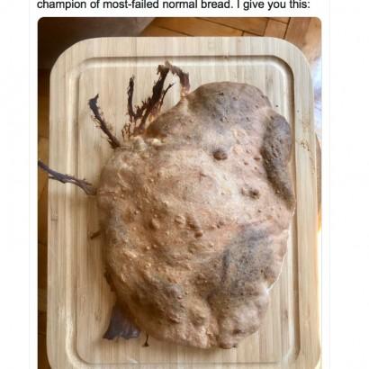 【海外発!Breaking News】「雪男の糞」「木材のよう」自宅待機中に挑戦したパンやお菓子の失敗作大集合