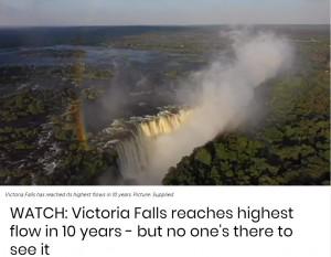 【海外発!Breaking News】ヴィクトリアの滝、10年ぶりに「迫力ある光景」も観光客ゼロ(ジンバブエ)