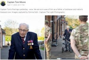 【海外発!Breaking News】「庭100周で募金活動」99歳の退役軍人、歌手とコラボしたチャリティソングが全英チャート1位に(英)