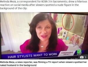 【海外発!Breaking News】浴室から生放送した女性記者 シャワー浴びる夫の姿がお茶の間に(米)<動画あり>
