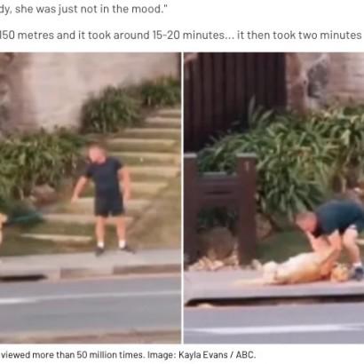 【海外発!Breaking News】外出禁止令中に散歩させたい飼い主と散歩したくない犬のゆるーい攻防戦(豪)<動画あり>