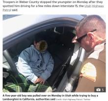 【海外発!Breaking News】5歳男児、所持金3ドルでランボルギーニを買うため車で12時間の旅へ(米)<動画あり>
