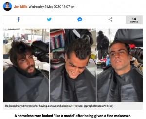 【海外発!Breaking News】30歳ホームレス、善意のヘアカットでイケメンに モデルのオファーも(米)<動画あり>